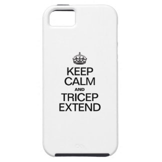 KEEP CALM AND TRICEP EXTEND iPhone SE/5/5s CASE