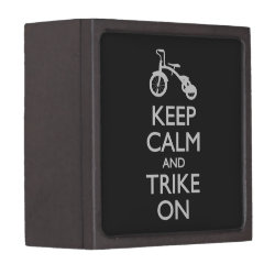 Medium (3' X 3') Gift Box with Keep Calm and Trike On design
