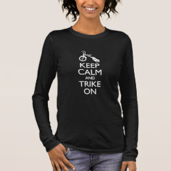 Women's Basic Long Sleeve T-Shirt with Keep Calm and Trike On design