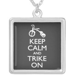 Large Necklace with Keep Calm and Trike On design