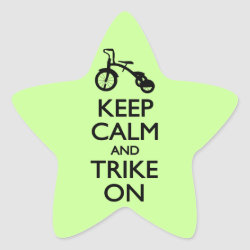 Star Sticker with Keep Calm and Trike On design