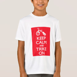 Kids' Hanes TAGLESS® T-Shirt with Keep Calm and Trike On design