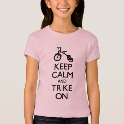 Girls' Bella+Canvas Fitted Babydoll T-Shirt with Keep Calm and Trike On design
