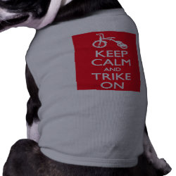 Dog Ringer T-Shirt with Keep Calm and Trike On design