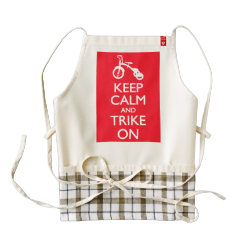 LIFE Line Apron with Keep Calm and Trike On design