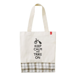 LIFE Line Tote Bag with Keep Calm and Trike On design