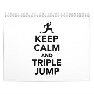 Keep calm and triple jump calendar