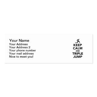 Keep calm and triple jump mini business card