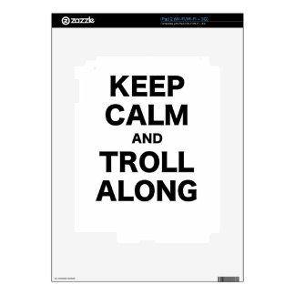 Keep Calm and Troll Along iPad 2 Skin