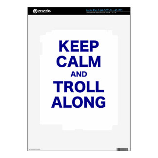 Keep Calm and Troll Along Decals For iPad 3
