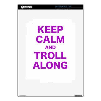 Keep Calm and Troll Along iPad 2 Decal