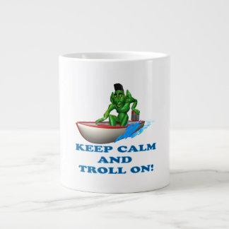 Keep Calm And Troll On 20 Oz Large Ceramic Coffee Mug