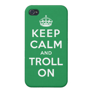 Keep Calm and Troll On iPhone 4/4S Case