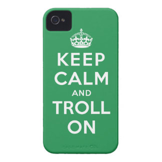 Keep Calm and Troll On iPhone 4 Cover