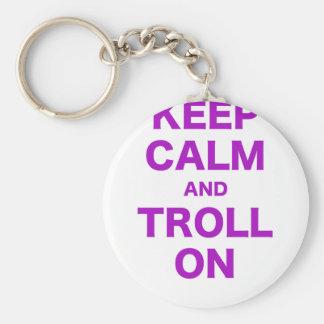 Keep Calm and Troll On Keychains