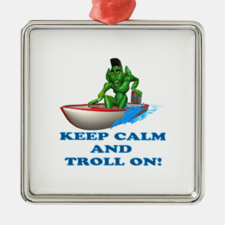 Keep Calm And Troll On Ornaments