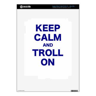 Keep Calm and Troll On iPad 3 Skin