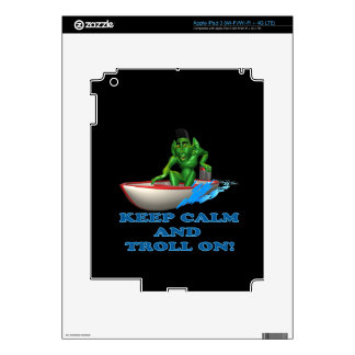 Keep Calm And Troll On iPad 3 Skins