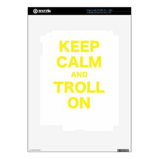 Keep Calm and Troll On Skins For iPad 2