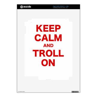 Keep Calm and Troll On iPad 2 Skin