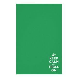 Keep Calm and Troll On Custom Stationery