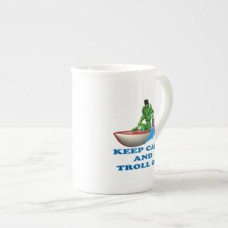 Keep Calm And Troll On Tea Cup