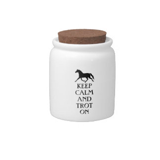 Keep Calm and Trot On Equestrian Candy Dishes