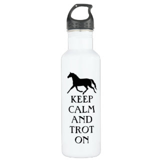 Keep Calm and Trot On Equestrian Water Bottle