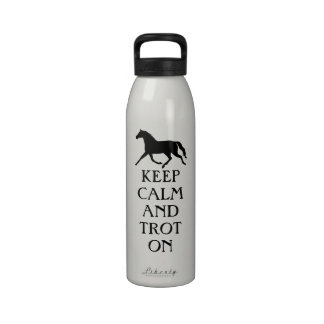 Keep Calm and Trot On Equestrian Drinking Bottle
