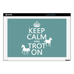 17' Laptop Skin for Mac & PC with Keep Calm and Trot On design