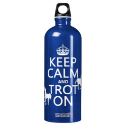 SIGG Traveller Water Bottle (0.6L) with Keep Calm and Trot On design