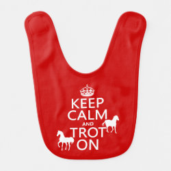 Baby Bib with Keep Calm and Trot On design