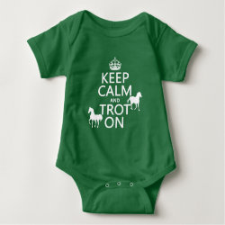 Baby Jersey Bodysuit with Keep Calm and Trot On design