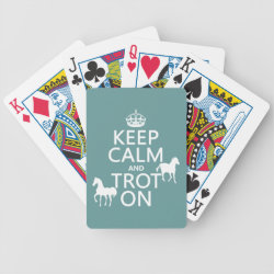 Playing Cards with Keep Calm and Trot On design