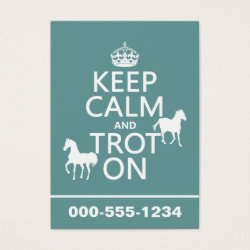 Chubby Business Cards (100-pack) with Keep Calm and Trot On design