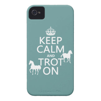 Keep Calm and Trot On - Horses - All Colors iPhone 4 Cover