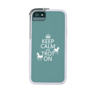 Keep Calm and Trot On - Horses - All Colors Case For iPhone 5/5S