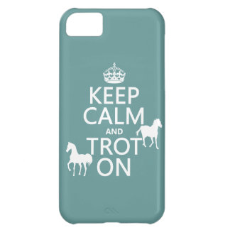 Keep Calm and Trot On - Horses - All Colors Cover For iPhone 5C