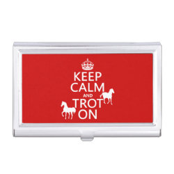 Business Card Holder with Keep Calm and Trot On design
