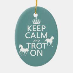 Oval Ornament with Keep Calm and Trot On design