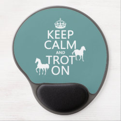 Gel Mousepad with Keep Calm and Trot On design