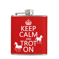 Vinyl Wrapped Flask, 6 oz. with Keep Calm and Trot On design