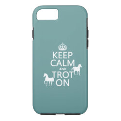 Case-Mate Barely There iPhone 7 Case with Keep Calm and Trot On design