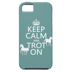 Case-Mate Vibe iPhone 5 Case with Keep Calm and Trot On design