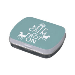 Rectangle Jelly Belly™ Candy Tin with Keep Calm and Trot On design