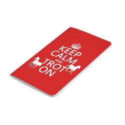 Pocket Journal with Keep Calm and Trot On design
