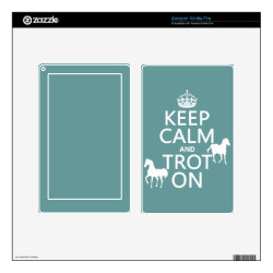 Amazon Kindle DX Skin with Keep Calm and Trot On design