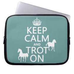 Neoprene Laptop Sleeve 10 inch with Keep Calm and Trot On design