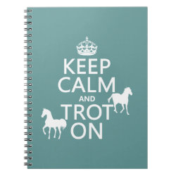Photo Notebook (6.5' x 8.75', 80 Pages B&W) with Keep Calm and Trot On design
