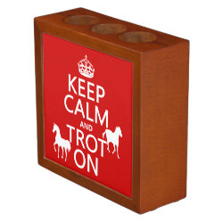 Desk Organizer with Keep Calm and Trot On design